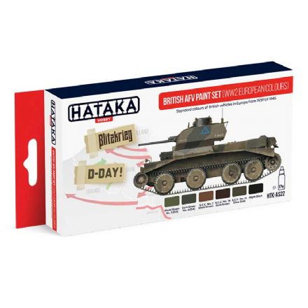 Hataka British AFV Paint Set WWII European Colours (Acrylic)